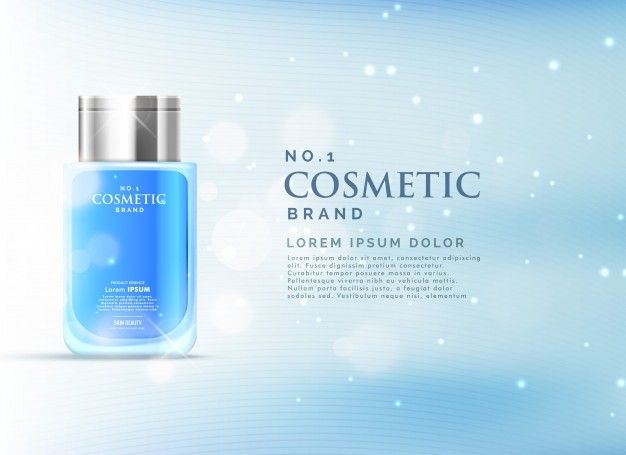 Light blue perfume template Free Vector