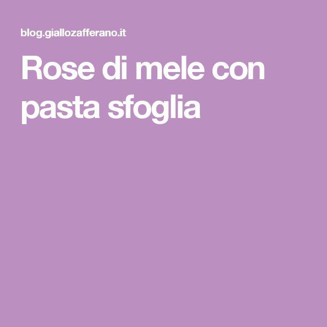 Rose di mele con pasta sfoglia