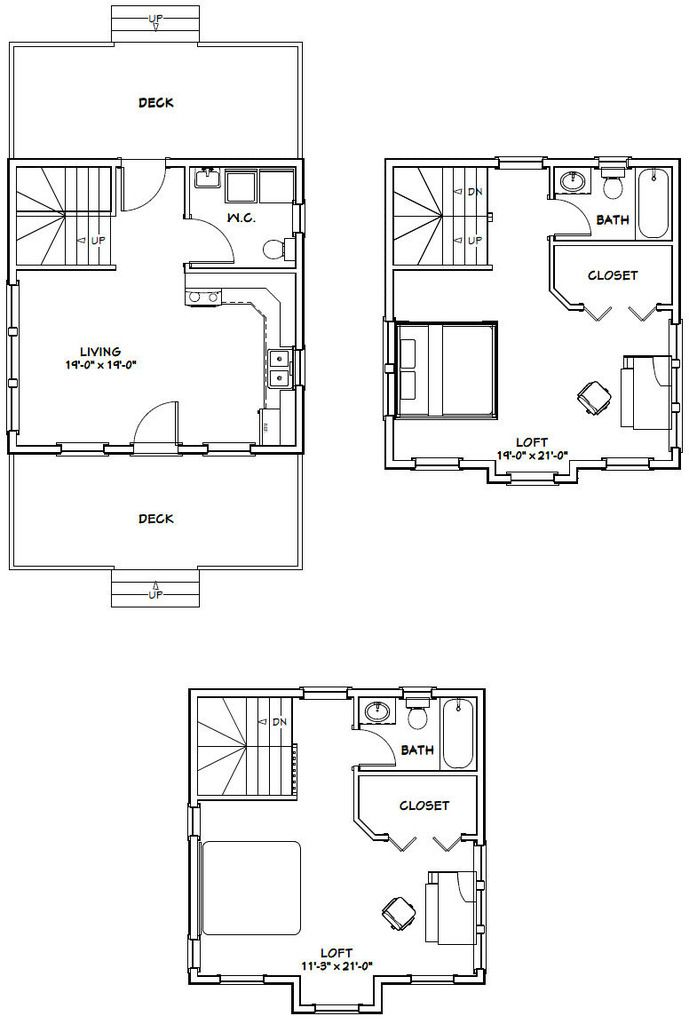 20x20 tiny house 20x20h26 1 079 sq ft excellent for 20x20 house plans