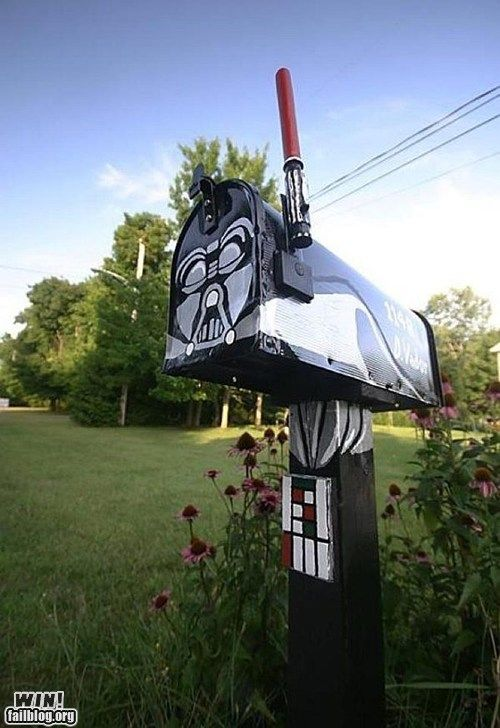 Mail Box WIN: Geek, Darth Vader, Nerd, Darthvader, Vader Mailbox, Star Wars, Mailboxes, Mail Boxes, Starwars