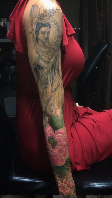Chronic Ink Tattoo - Toronto Tattoo  Guan yin full sleeve tattoo done by Damon.