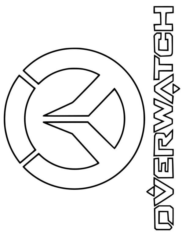 coloring pages of overwatch