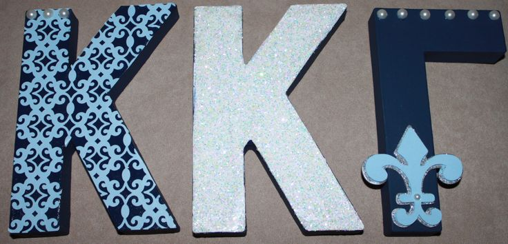 Kappa Kappa Gamma letters I just crafted for my little!