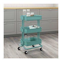 RÅSKOG Trolley, turquoise - IKEA