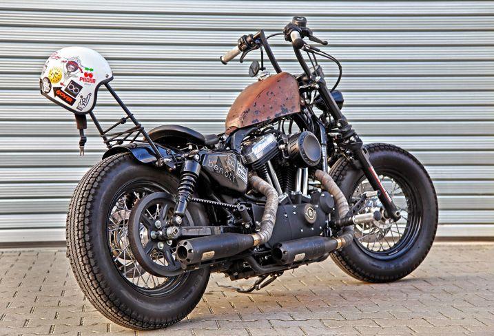 Customized Harley-Davidson Sportster by Ben Ott / customized by Thunderbike