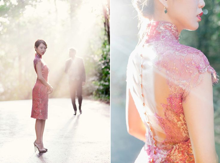 Lace cheongsam by Caramel  Co. Vintage and Nostalgic Styled Engagement Shoot with Cheongsams