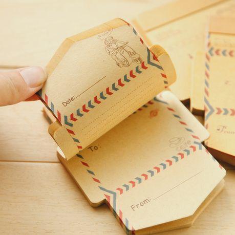 50 מעטפות נייר קראפט רטרו בציר קטן יח'\סט מיני קריקטורה חמודה כתיבה קוריאנית Kawaii נייר מתנות משלוח חינם 03208