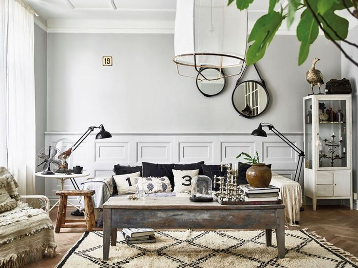 A Swedish apartment filled with vintage finds