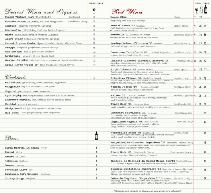 Best Wine List Design Images On   Menu Layout Wine