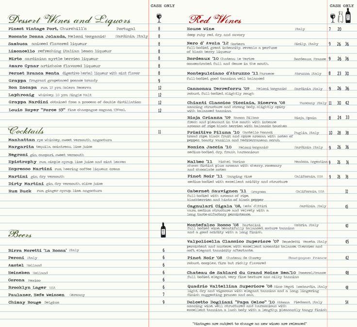 Best images about wine list design on pinterest menu