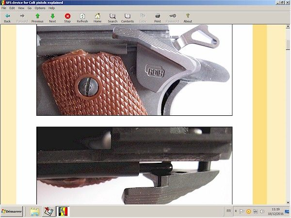 SFS (Safety Fast Shooting) for Colt pistols
