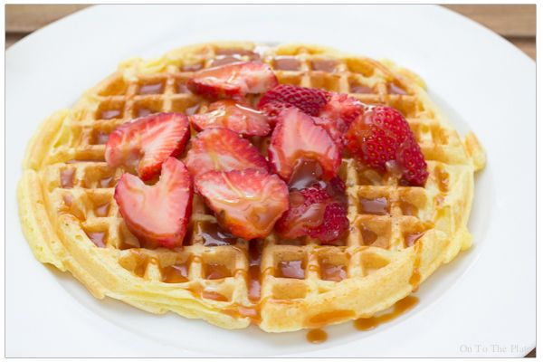 Waffles – Annabel Langbein's recipe   On to the plate