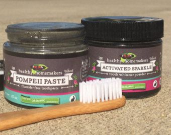 Natural Remineralizing Tooth Powder Organic by HealthyHomemakers