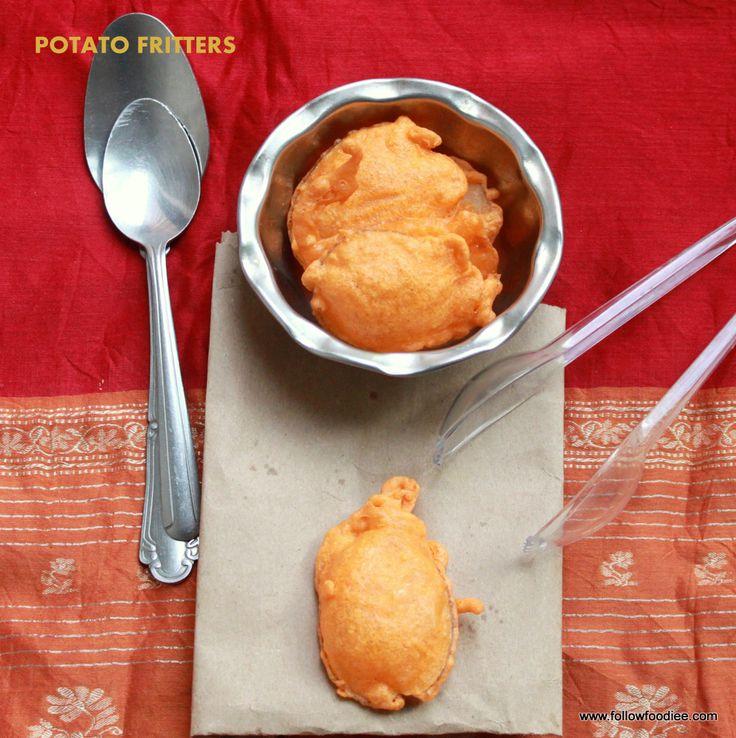 Indian Potato Bajji Recipe ( Potato fritters ) #potato #followfoodiee