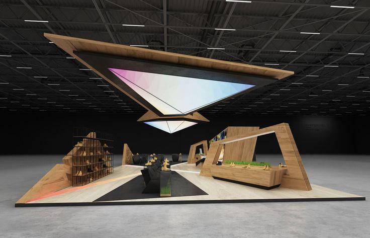 Timberland exhibition stand design | | GM stand design
