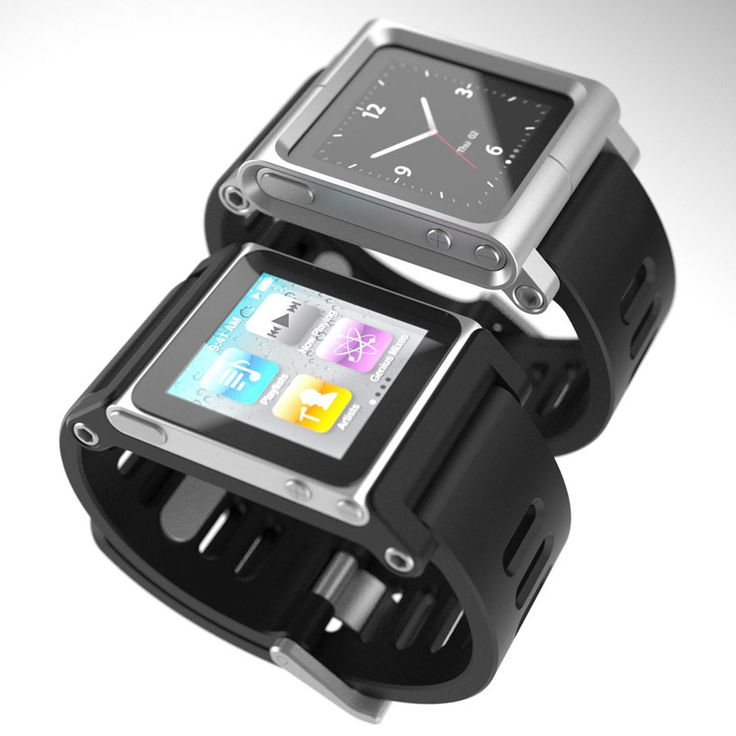I still really like this iPod nano watch concept. A little on the flashy side though.