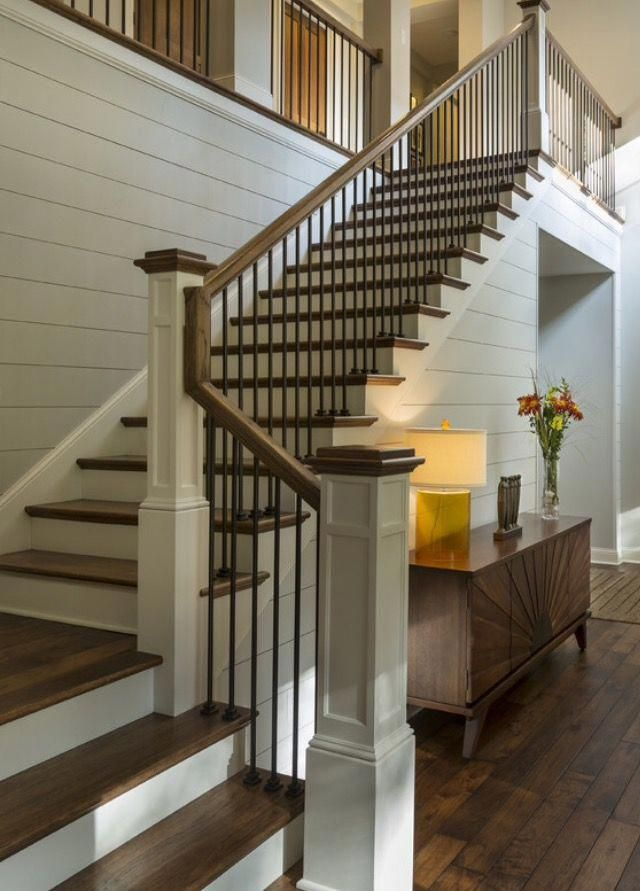 Image Result For White Staircase With Iron Spindles