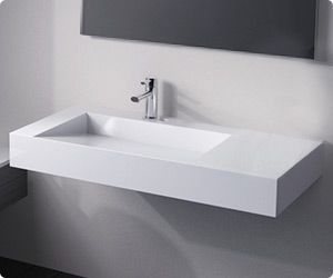 $790 The WT-04 contemporary rectangular wall mounted sink is perfect for your modern bathroom setting.