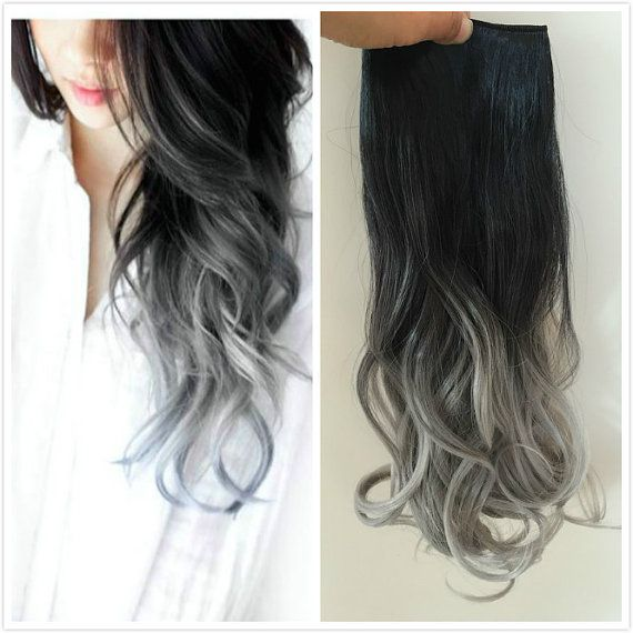One Piece Dip dye Clip in Hair extensions Ombre by Devalook $12