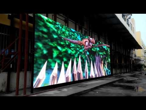 P10 outdoor mesh led media facade