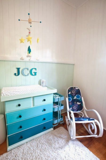 Creative Monsoon: our nursery done turquoise and navy space themed