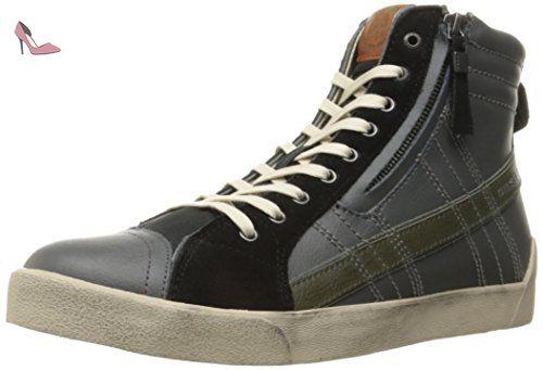DIESEL Y01169 P0919 D-STRING GREY BLACK SNEAKERS Homme GREY BLACK 45 - Chaussures diesel (*Partner-Link)