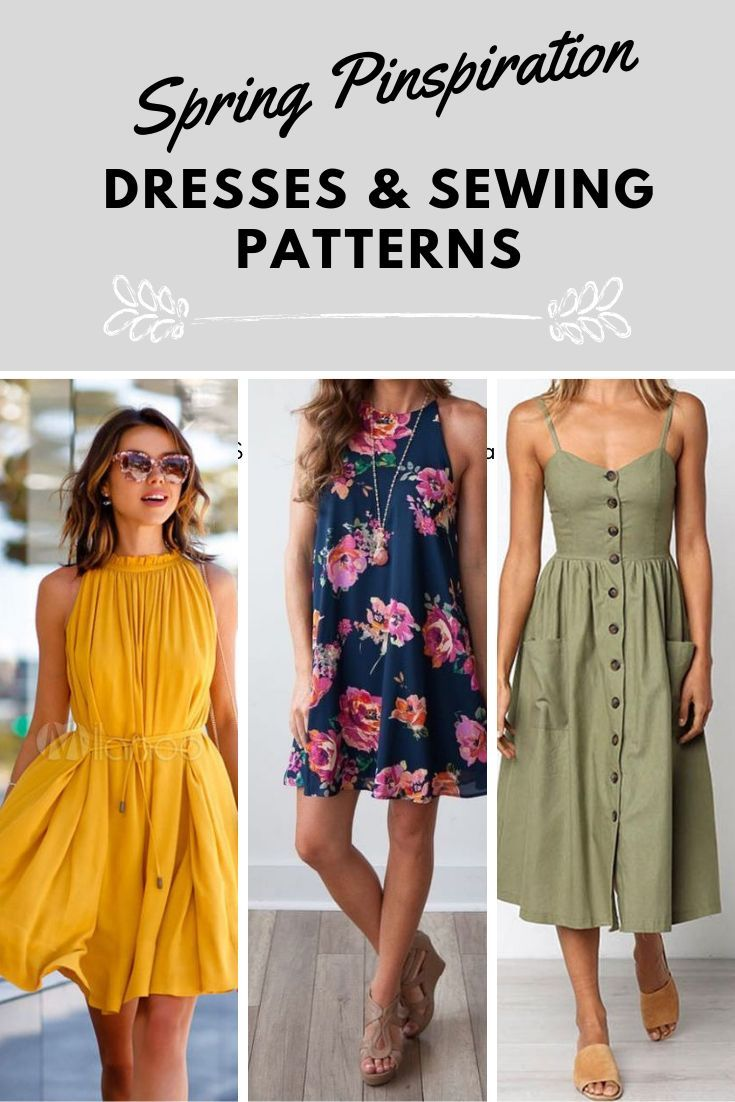 Spring Dress Inspiration Patterns Summer Dress Sewing Patterns