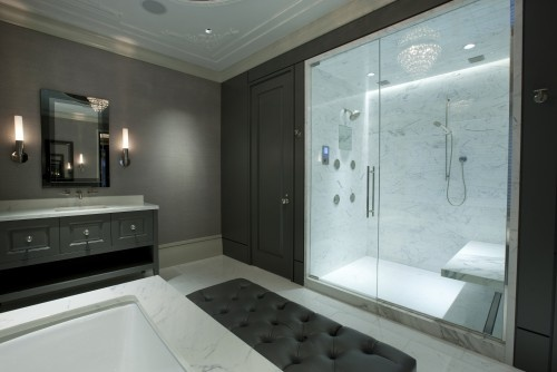 sauna with attach luxury bath room