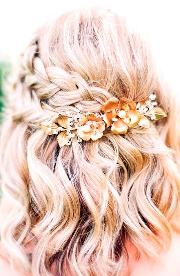 Looking For A Simple But Beautiful Hairstyle For Your Prom Night Here Is A List With In 2020 Prom Hairstyles For Short Hair Short Wedding Hair Easy Formal Hairstyles