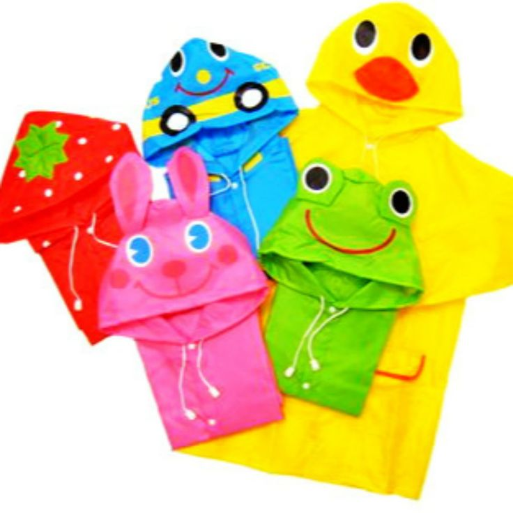 CUTE DUCK Waterproof Raincoat for kids Boy Girl Impermeables PONCHO Rain Jacket GIFTS