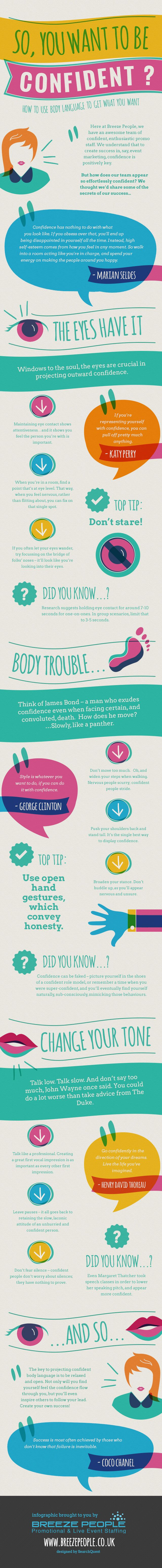 So You Want to Be Confident? How to Use Body Language to Get What You Want [Infographic]   Breeze People