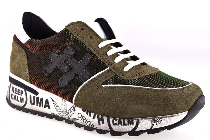 DIVINE FOLLIE PREMIUM VERDE Sneakers Militare Camouflage Scarpa Invernale Donna