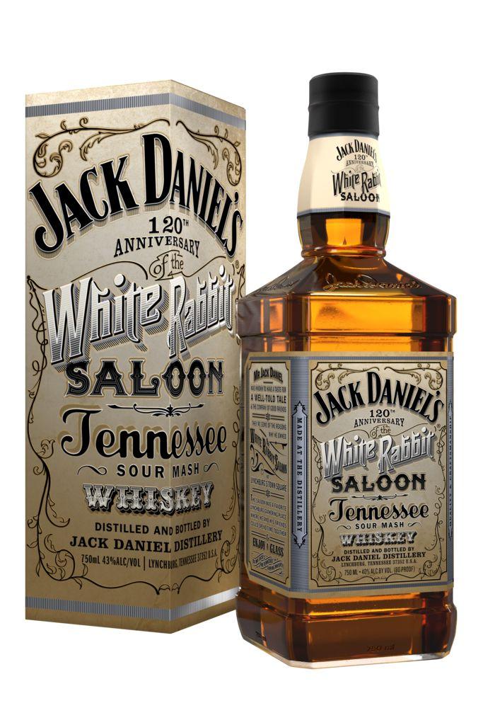 NEW!! Jack Daniels White Rabbit Saloon Bottle 2012