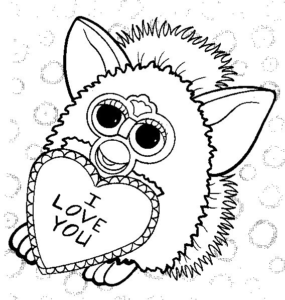 furby coloring page print furby pictures to color at