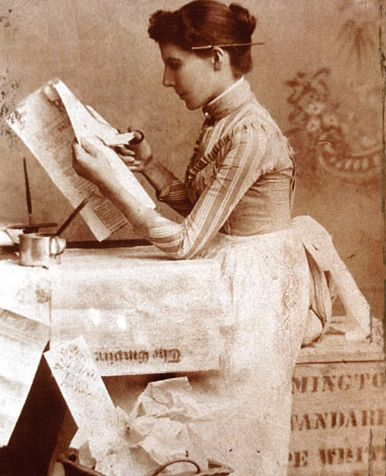 Taken from the cover of Jill Downie's biography, A Passionate Pen: The Life and Times of Faith Fenton----one of Canada's first investigative female journalists.
