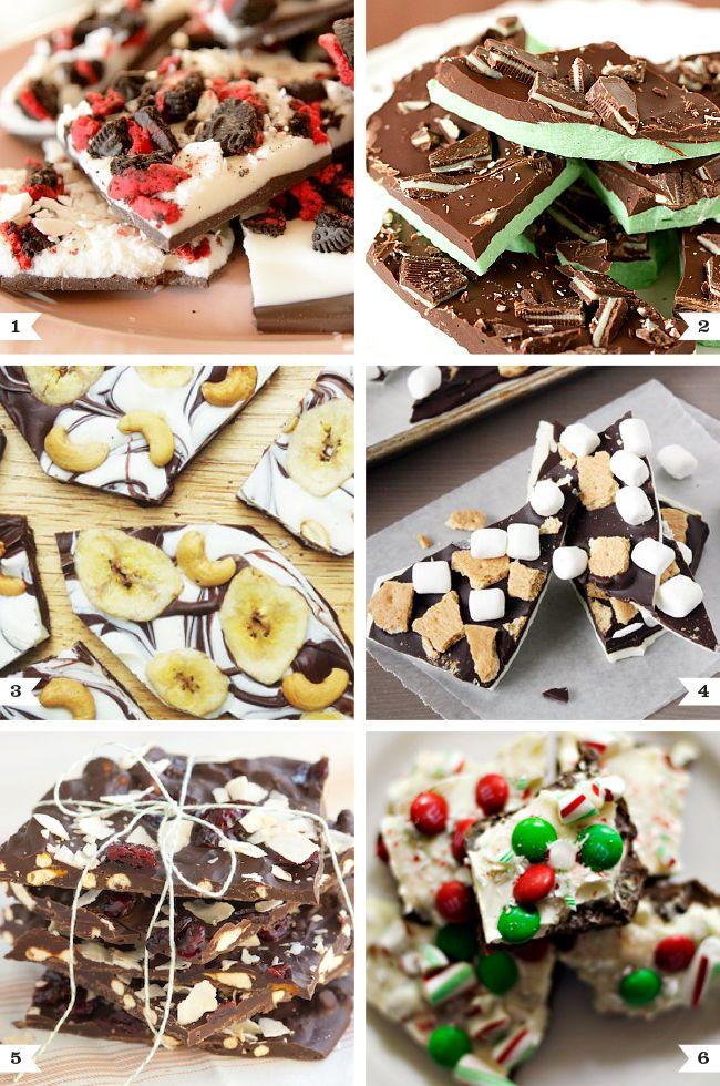 6 delicious ways to make chocolate bark!