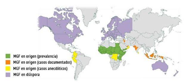 La Caja de Pandora: Mapa mundial de la mutilación genital femenina Las...