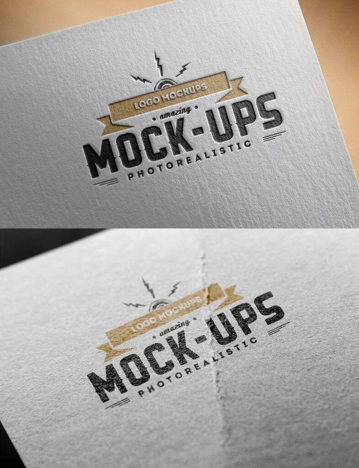 100+ Logo Mockup Templates (PSD & Vector) Paper logo