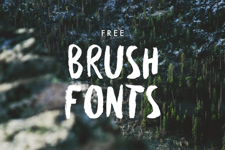 Give your web and print design projects a vintage, DIY feel with one of the amazing, hipster-friendly, free brush fonts that we found online.