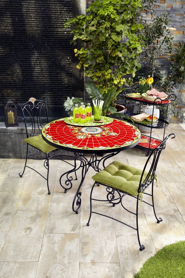Rania 36 Quot Red Round Dining Table Balconies Tables And