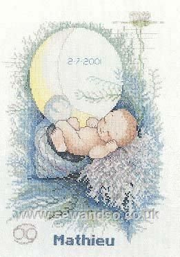 """Elements Birth Sampler - """"Water"""" - Sew and So - Lanarte"""