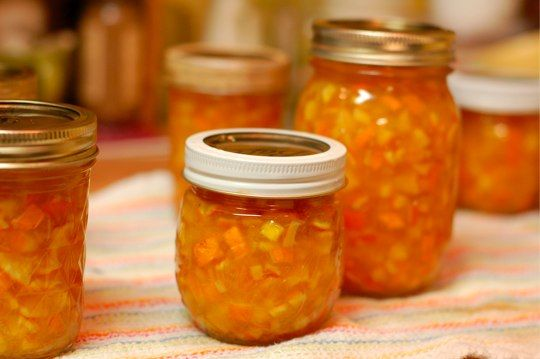Orange-Ginger Marmalade ••• Ingredients: oranges, sugar, peeled and minced ginger, lemons, liquid pectin ••• Get the recipe @ http://www.foodinjars.com/2009/03/orange-ginger-marmalade/