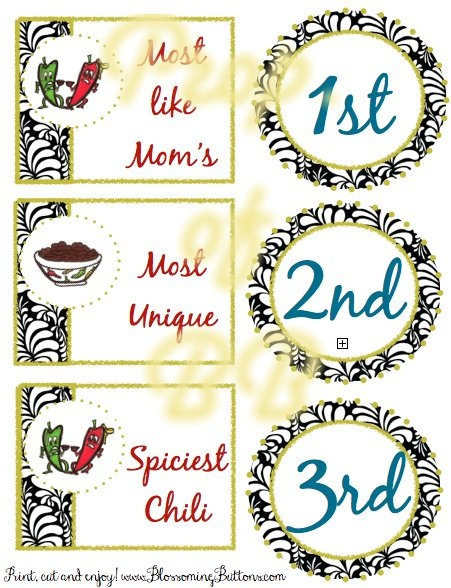 17 best images about chili cook off on pinterest kids for Chili cook off award certificate template