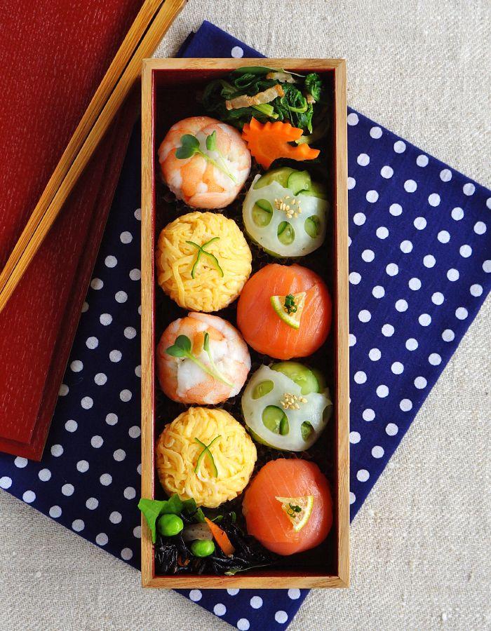 Temari-zushi, sushi balls bento/手まり寿司弁当