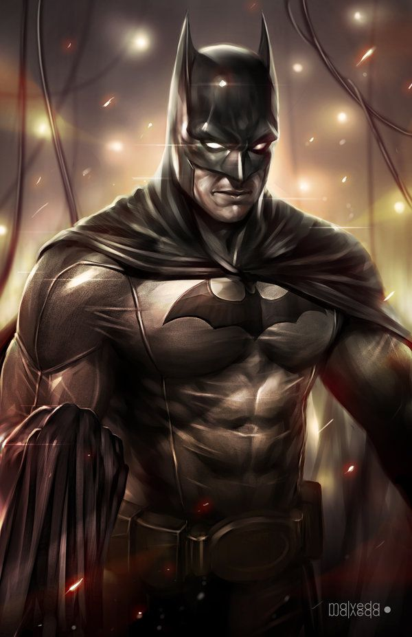 Cartoons And Heroes — super-hero-center:   Batman by alex-malveda