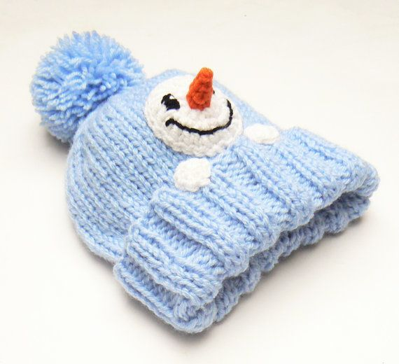 Hey, I found this really awesome Etsy listing at https://www.etsy.com/listing/206375339/snowman-hat-kids-winter-hat-knit-hat-pom