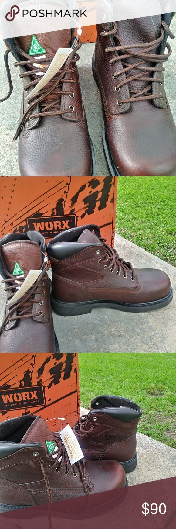 Mens work boots. Brand New Steel Toe Brand new comfortable leather boots Worx Shoes Boots