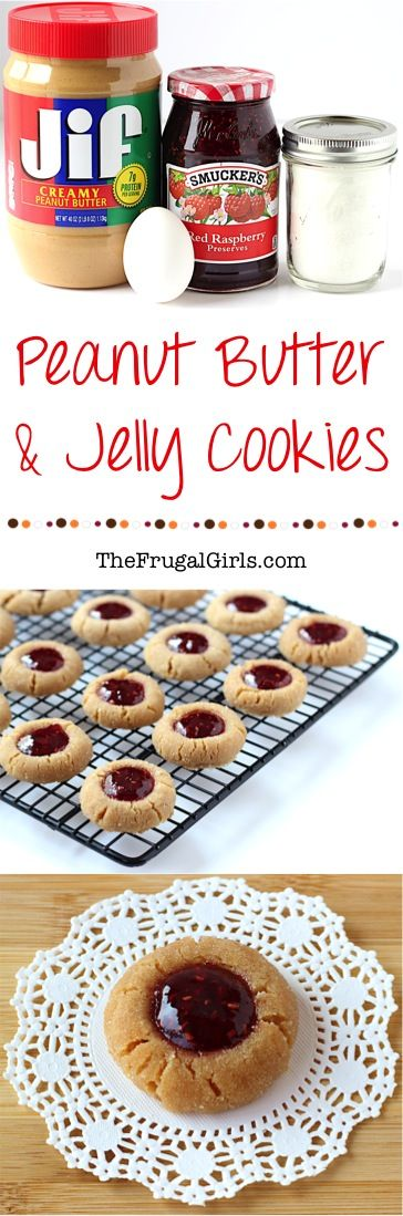 Peanut Butter Jelly Cookie Recipe! ~ from TheFrugalGirls.com ~ pb and j is just for sandwiches... it's also ridiculously delicious as a cookie!  These sweet little Thumbprint Cookies are perfect for your holiday parties and Christmas Cookie Exchanges, too!