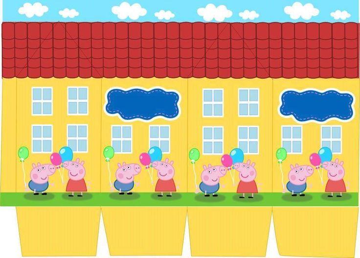 Molde Caixa Milk Peppa Pig |