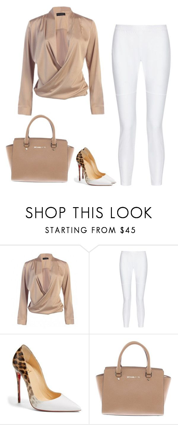 """Fashion inspiration - lady boss"" by monika1555 on Polyvore featuring 10 Crosby Derek Lam, Christian Louboutin and Michael Kors"
